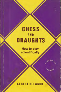 Belasco - Chess and Draughts - 1925